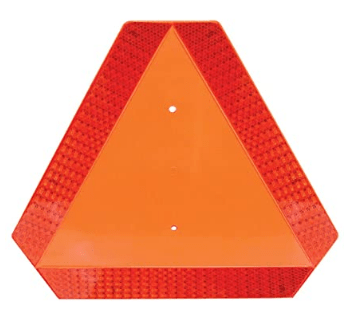Deflecto Slow Moving Vehicle Sign with Reflective Tape  Safety Triangle